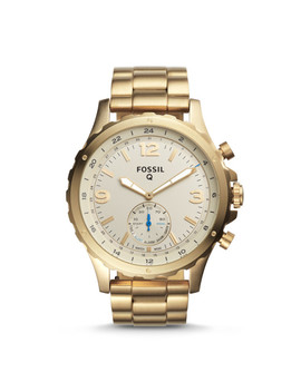 Hybrid Smartwatch   Q Nate Gold Tone Stainless Steel by Fossil