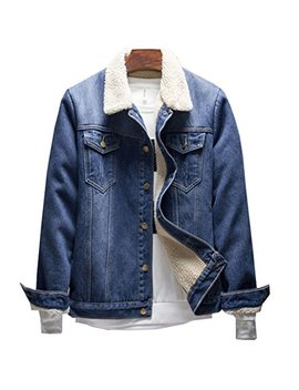 Haroty Giacca In Denim Da Uomo Giacche Di Jeans Invernali E Autunno Manica Lunga Casual Jacket Outwear by Haroty