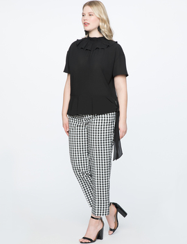 Gingham Straight Leg Pant by Eloquii