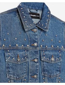 Sleeveless Denim Jacket With Studs Sleeveless Denim Jacket With Studs by The Kooples