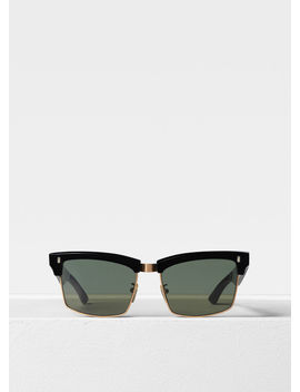 Rectangular Sunglasses In Acetate With Mineral Glass Lenses by Celine