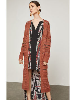 Open Stitch Long Cardigan by Bcbgmaxazria