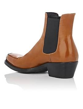 Spazzolato Leather Chelsea Boots by Calvin Klein 205 W39 Nyc