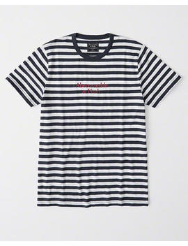 Striped Logo Tee by Abercrombie & Fitch