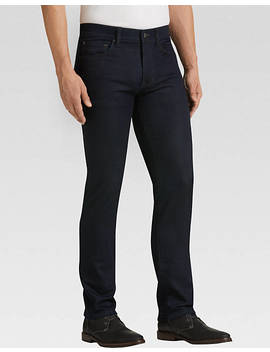 Joseph Abboud Dark Blue Wash Slim Fit French Terry Jeans by Mens Wearhouse