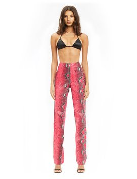 Pre Order Anet Pant   Red Snakeskin (Shipping Late September) by I.Am.Gia