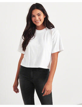 Crop Boyfriend T Shirt by Hollister