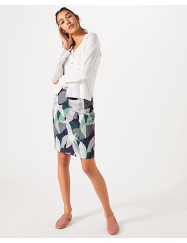 Woven Leaves Pencil Skirt by Jigsaw