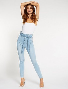Cello Paperbag High Waist Skinny Jeans by Charlotte Russe