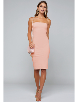 Strapless Midi Dress by Bebe
