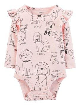 Dog Print Collectible Bodysuit by Carter's