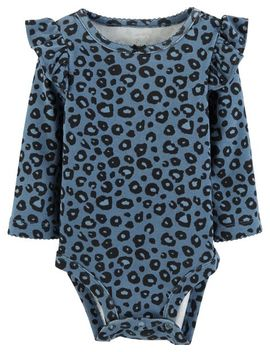 Cheetah Print Flutter Bodysuit by Carter's