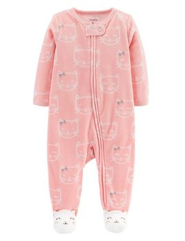Kitty Zip Up Fleece Sleep & Play by Carter's