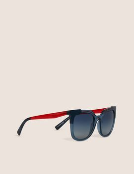 Colorblock Cat Eye Sunglasses by Armani Exchange