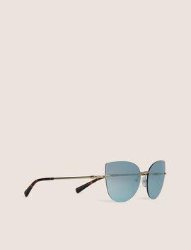 Blue Mirror Frameless Cat Eye by Armani Exchange
