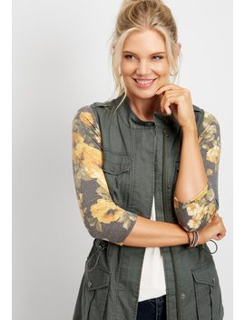 Solid Linen Vest by Maurices