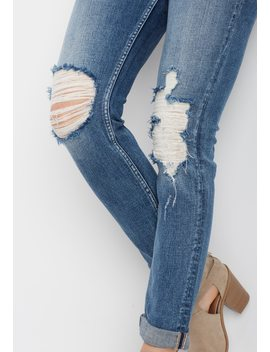 Silver Jeans Co.® Sam Shredded Knee Boyfriend Jean by Maurices