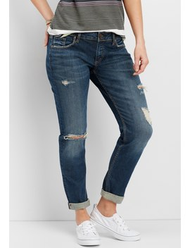 Silver Jeans Co.® Sam Destructed Boyfriend Crop Jean by Maurices