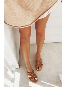 Strappy Eva Flats   Tan by Sabo Skirt