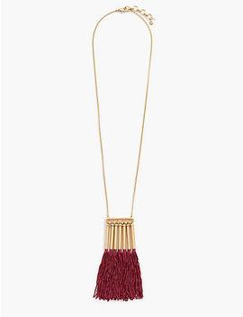 Silk Tassel Necklace by Lucky Brand