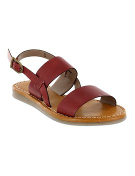 Red Elina Leather Sandal   Women by Mia Shoes