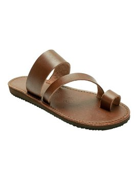 Brown Vegetable Tanned Leather Sandal   Women by Redhawk Boot Co.