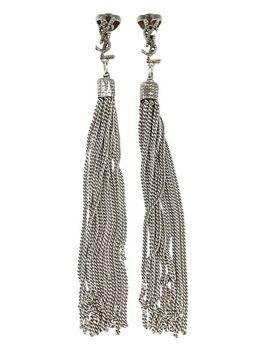 Loulou Tassel Earrings by Saint Laurent
