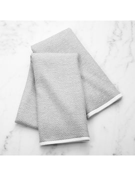 Grey Textured Terry Dish Towel, Set Of 2 by Crate&Barrel