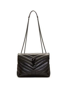 Women's Black Tonal Small Loulou Chain Bag by Saint Laurent