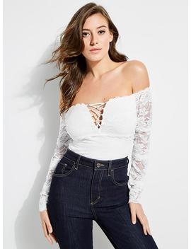 Enzo Off The Shoulder Top by Guess