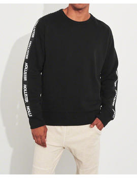 Logo Tape Crewneck Sweatshirt by Hollister