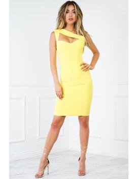 Shari Dress   Yellow by Want My Look