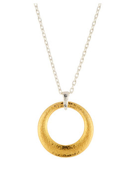 Large Tapered Hoop Pendant Necklace by Gurhan