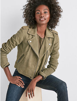 Helen Leather Moto Jacket by Lucky Brand