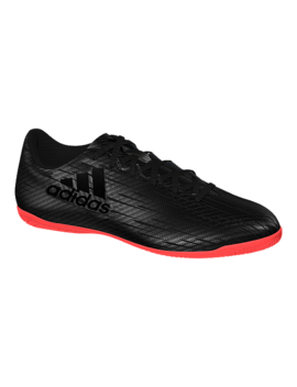 Adidas Men's X 16.4 In Indoor Soccer Shoes   Black/Red by Sport Chek