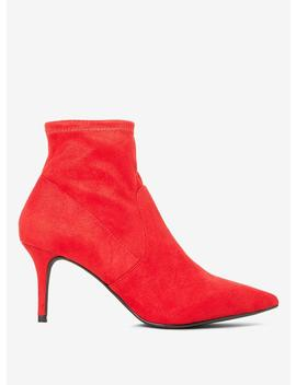 Red 'motion' Sock Boots by Dorothy Perkins