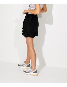 Linen Wrap Mini Skirt by Sportsgirl