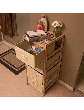 Lavish Home  Organization Wood Fabric Four Drawer Unit With Shelf Top Lavish Home  Organization Wood Fabric Four Drawer Unit With Shelf Top by Sears