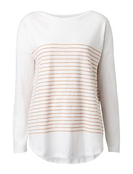 Stripe Cotton Slub Top by Witchery