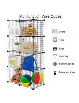 Goplus Wire Cube Shelves Diy 8 Cube Grid Organizer Wardrobe Organizer Bookcase Shoe Goplus Wire Cube Shelves Diy 8 Cube Grid Organizer Wardrobe Organizer Bookcase Shoe by Sears