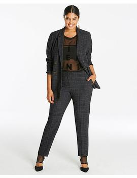 Double Breasted Check Blazer by Simply Be