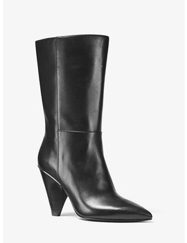 Lizzy Leather Mid Calf Boot by Michael Michael Kors
