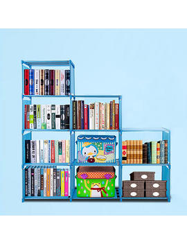 Tops Blue Color Adjustable Bookcase Storage Bookshelf With 9 Book Shelves Tops Blue Color Adjustable Bookcase Storage Bookshelf With 9 Book Shelves by Sears