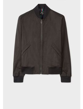 Men's Black Poly Cotton Bomber Jacket by Paul Smith