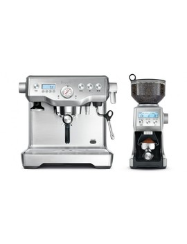 Breville Dynamic Duo Coffee Machine And Grinder   Stainless Steel by Breville