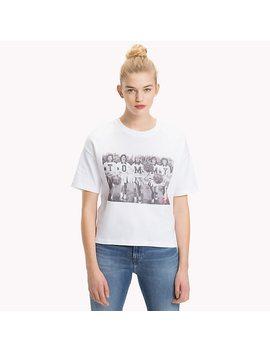 Cheerleader Photo Print T Shirt by Tommy Hilfiger
