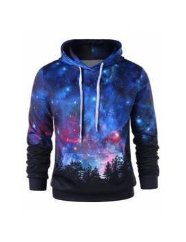 "<P>Front Pocket Drawstring Starry Sky 3 D Print Hoodie</P><I Class=""Icon Down Js Tap Up Down""></I> by Dress Lily"