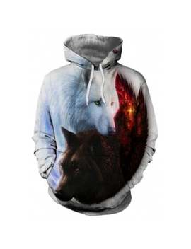"<P>Fashion 3 D Yin And Yang Wolf Print Men's Long Sleeved Hoodie Jersey</P><I Class=""Icon Down Js Tap Up Down""></I> by Dress Lily"
