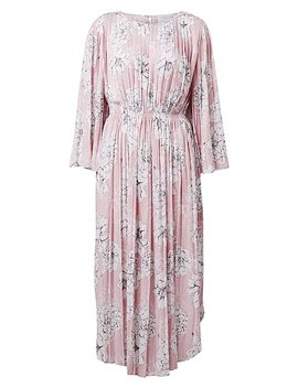 Pleat Print Sleeve Dress by Witchery