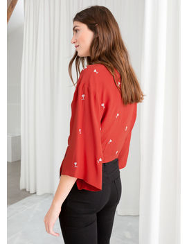 Cocktail Beaded Tie Top by & Other Stories
